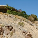 Looking up at Bob Hope's house from the Araby Trail.