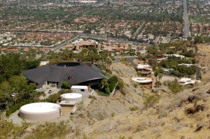 View of Bob Hope's house from the Araby Trail.