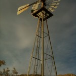 This windmill no longer stands near the stone house.
