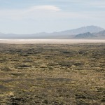View of the salt flats to the southeast of Amboy Crater.