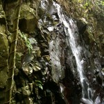 Waterfalls near Papageno Resort on Kadavu Island, Fiji.