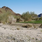 A portion of the trail skirts a golf course at The Quarry at La Quinta.