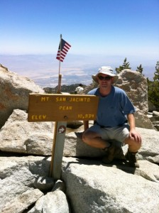 Me at the 10,834-foot peak of Mount San Jacinto.