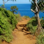 Red dirt of the Kalalau Trail