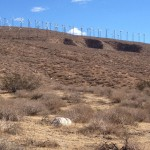 Windmills above the Pacific Crest Trail at the beginning of section C near Whitewater, California