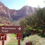 Trailhead of Watchman Trail