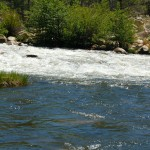 Smaller river flows into the Kern River along the Whiskey Flat Trail
