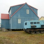 One of the nicer houses - with a small tank in the yard - in Barrow, Alaska