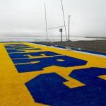 Football field in Barrow, Alaska