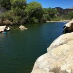 Swimming hole off the Red Rocks Trail north of Santa Barbara, California