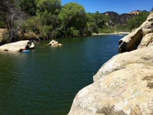 Swimming hole off the Red Rocks Trail north of Santa Barbara, California