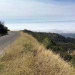 Gibraltar Road at the top of Rattlesnake Canyon Trail near Santa Barbara, California