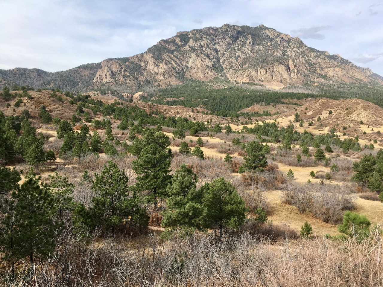 my hike to cheyenne mountain Colorado springs, colorado (teller county)  continue straight through the  large meadow and pass the intersection to (spur) fs road 379e on your left.
