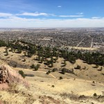 View of Boulder from the Mount Sanitas Trail