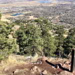 View of Boulder from the peak of the Mount Sanitas Trail