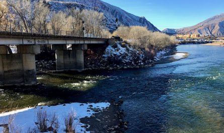 Colorado River meets the Roaring Fork River in Glenwood Springs, Colorado
