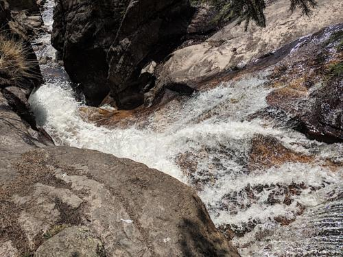 Chasm Falls via Old Fall River Road in Rocky Mountain National Park.