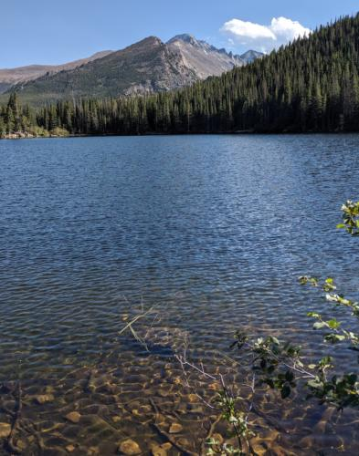 Bear Lake in Rocky Mountain National Park.